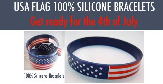 group stock styles wholesale - Support Our Troops Silicone Bracelet